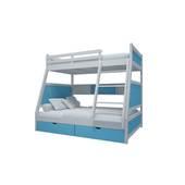 Giường tầng thang giữa màu xanh