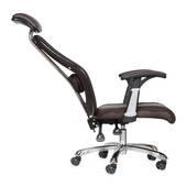 ghế da IB817GA chân hợp kim nhôm đúc cao cấp màu đen