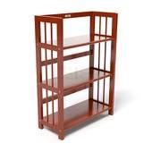Kệ sách 3 tầng HB363 gỗ cao su màu cánh gián 4