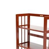 Kệ sách 3 tầng HB363 gỗ cao su màu cánh gián 3