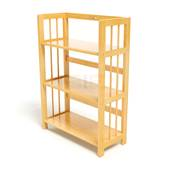 Kệ sách 3 tầng HB363 gỗ cao su màu tự nhiên 2