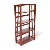 Kệ sách 4 tầng HB463 gỗ cao su màu cánh gián kt