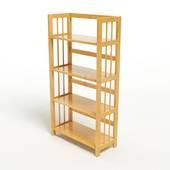 Kệ sách 4 tầng HB463 gỗ cao su màu tự nhiên 3