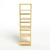 Kệ sách 5 tầng HB540 gỗ cao su màu tự nhiên 1