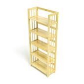 Kệ sách 5 tầng HB563 gỗ cao su màu tự nhiên kt