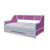 Giường tầng lùn trẻ em màu hồng đóng