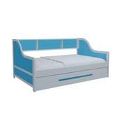 Giường tầng lùn gỗ tự nhiên màu xanh đóng