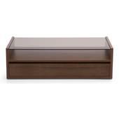 Bàn trà sofa Osaka 1 ngăn kéo màu gỗ tự nhiên walnut mặt trước