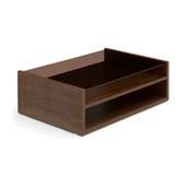 Bàn trà sofa Osaka không ngăn kéo màu gỗ walnut nghiêng 1