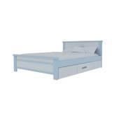 Giường đơn có ngăn kéo màu trắng xanh