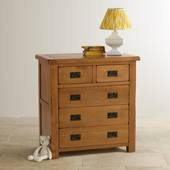Tủ ngăn kéo gỗ sồi Mỹ Sherwood 5 ngăn