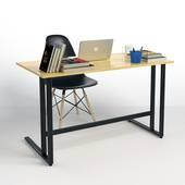 Bo bàn Rec-U đen + ghế đen