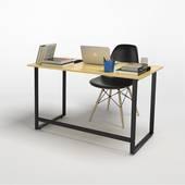 Bộ bàn Rec-F đen và ghế Eames đen 3