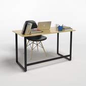 Bộ bàn làm việc Rec-F đen