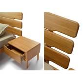 Giường gỗ sồi Tentai góc