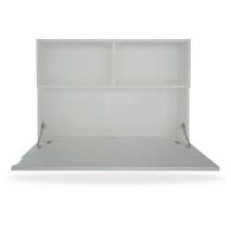 bàn gấp gọn treo tường màu trắng