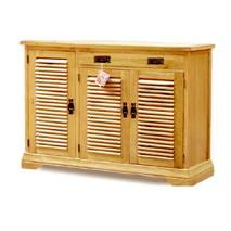 Tủ giầy 3 cánh lá sách IBV31 gỗ sồi mái bằng