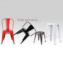 Chi tiết chân ghế Tolix có tay IB819 màu đen