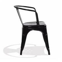 Mặt sau Ghế Tolix có tay IB819 màu đen