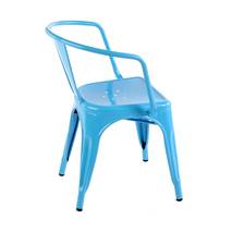 Ghế Tolix có tay màu xanh lam 2