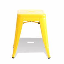 Ghế đôn Tolix chân thấp 45cm màu vàng