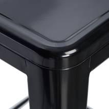 Ghế bar Tolix chân cao màu đen 4