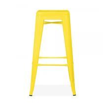 Ghế bar Tolix chân cao màu vàng 2