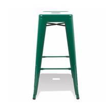 Ghế bar Tolix chân cao màu xanh lá 2