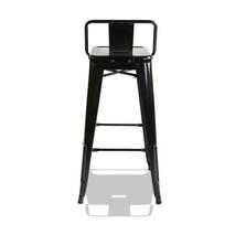 Ghế bar Tolix lưng thấp màu đen 3