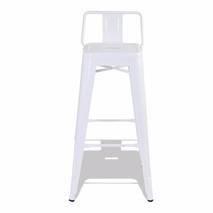 Ghế bar Tolix lưng thấp màu trắng 3