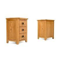 Tủ đầu giường Rustic 3 ngăn gỗ sồi 4