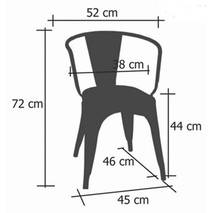 Kích thước ghế Tolix có tay