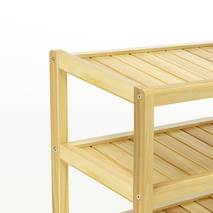 Kệ dép 3 tầng IB373 gỗ cao su 73x30x50 cm 3