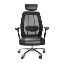 ghế da IB817GA chân hợp kim nhôm đúc cao cấp màu đen 2