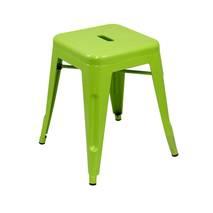 Ghế đôn Tolix chân thấp 45cm màu xanh lá