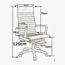 Ghế da IB03GA chân hợp kim nhôm đúc cao cấp màu đen