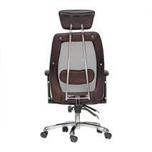 ghế da IB817GA chân hợp kim nhôm đúc cao cấp màu nâu 3