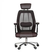 ghế da IB817GA chân hợp kim nhôm đúc cao cấp màu nâu 2
