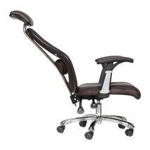 ghế da IB817GA chân hợp kim nhôm đúc cao cấp màu nâu