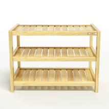 Kệ dép 3 tầng IB373 gỗ cao su 63x30x50 cm 1