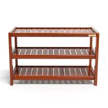 Kệ dép 3 tầng IB373 gỗ cao su 73x30x50 cm màu cánh gián 1