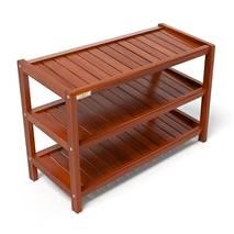 Kệ dép 3 tầng IB373 gỗ cao su 73x30x50 cm màu cánh gián 2
