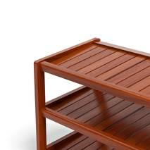 Kệ dép 3 tầng IB373 gỗ cao su 73x30x50 cm màu cánh gián 3