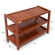 Kệ dép 3 tầng IB373 gỗ cao su 73x30x50 cm màu cánh gián 4