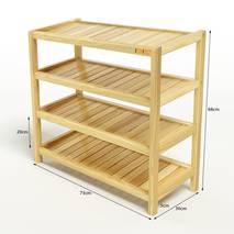 Kệ dép 4 tầng IB473 gỗ cao su 73x30x68 cm 3