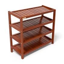 Kệ dép 4 tầng IB473 gỗ cao su 73x30x68 cm màu cánh gián 2