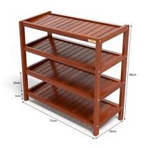 Kệ dép 4 tầng IB473 gỗ cao su 73x30x68 cm màu cánh gián kt