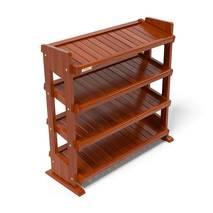Kệ dép 4 tầng IB480 gỗ cao su 80x30x68 cm màu cánh gíán 3