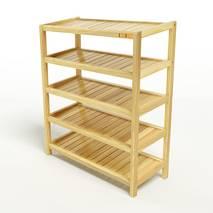 Kệ dép 5 tầng IB573 gỗ cao su 73x30x86 cm 1