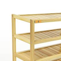 Kệ dép 5 tầng IB573 gỗ cao su 73x30x86 cm 2
